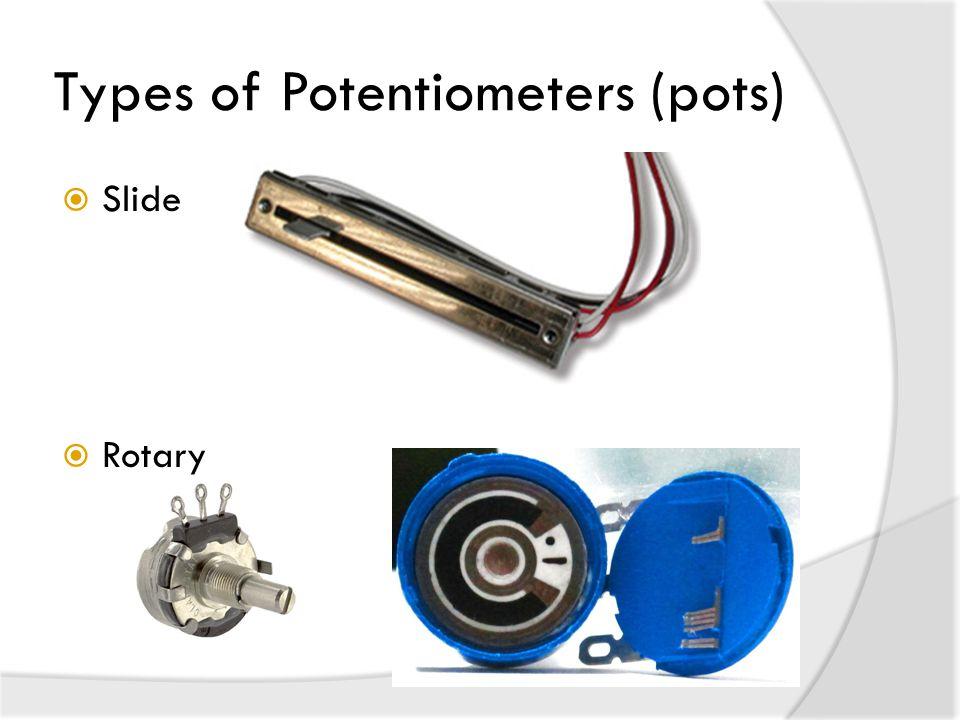 Types of Potentiometers (pots)