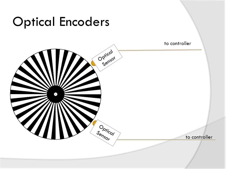 Optical Encoders to controller Optical Sensor Optical Sensor