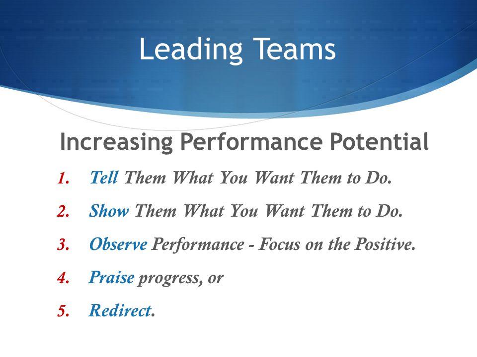 Increasing Performance Potential