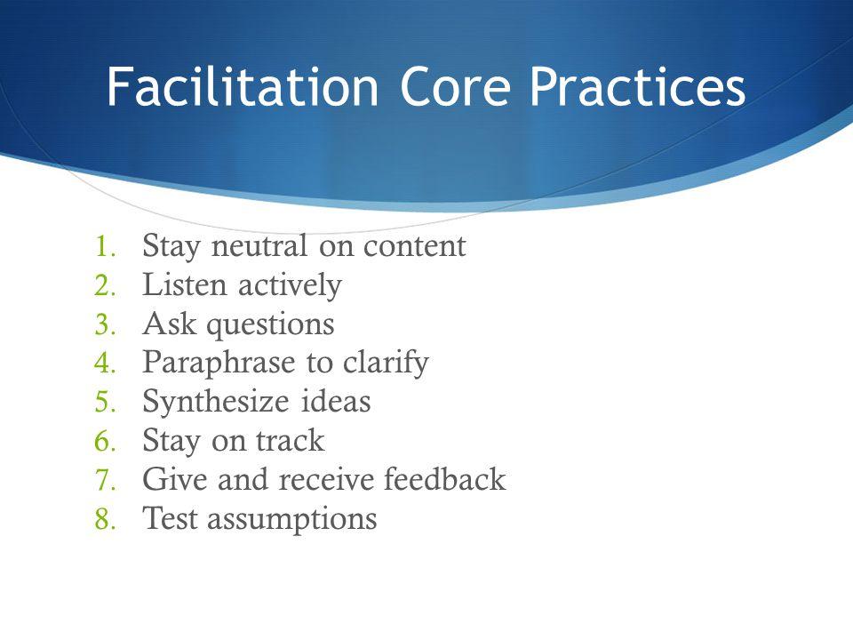 Facilitation Core Practices