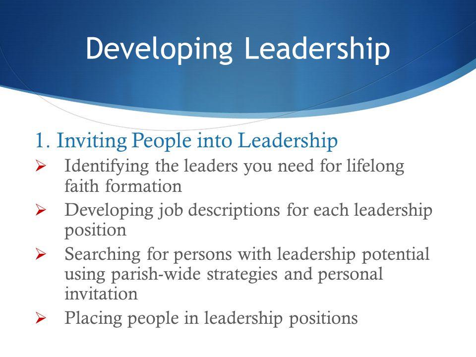 Developing Leadership