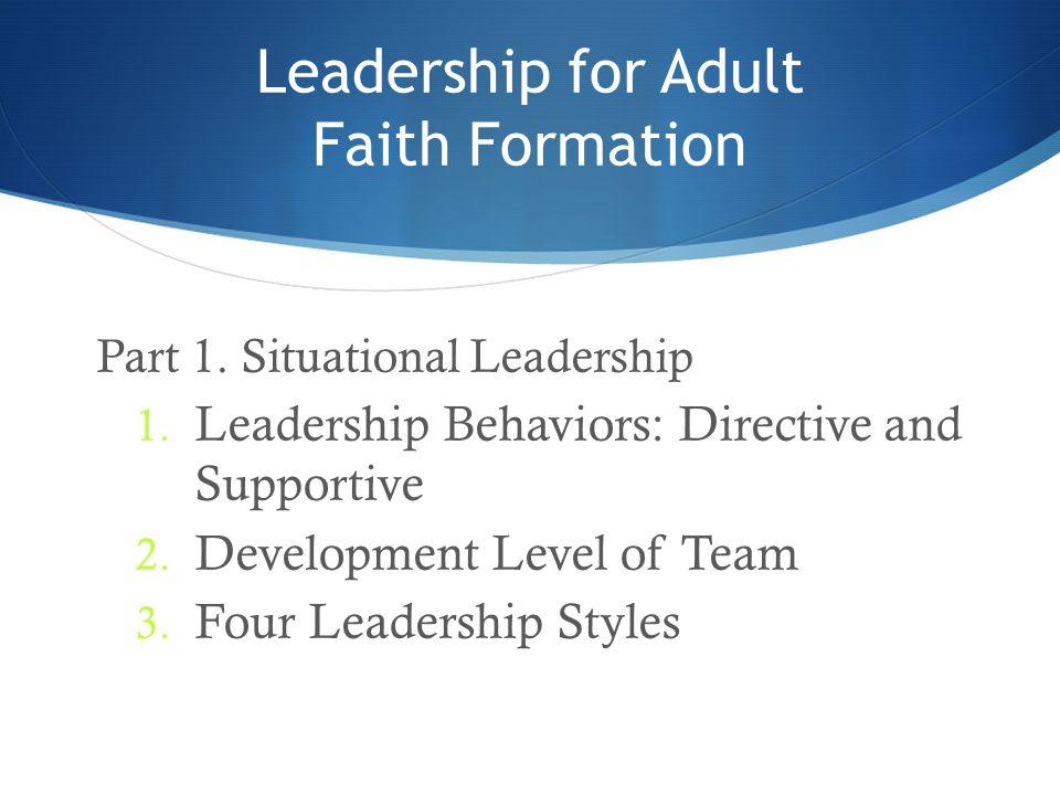 Leadership for Adult Faith Formation