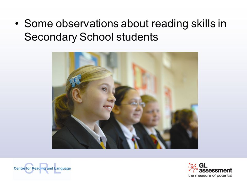 Some observations about reading skills in Secondary School students