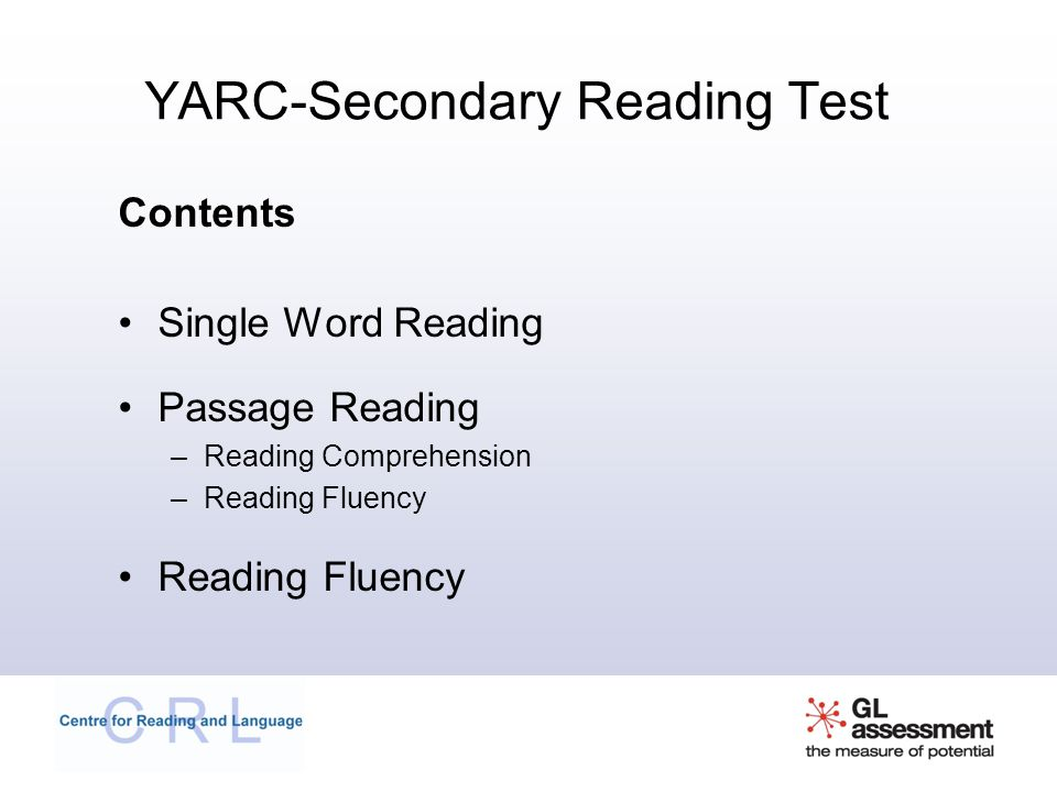 YARC-Secondary Reading Test