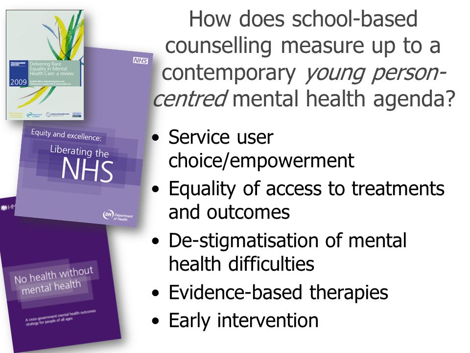 How does school-based counselling measure up to a contemporary young person-centred mental health agenda