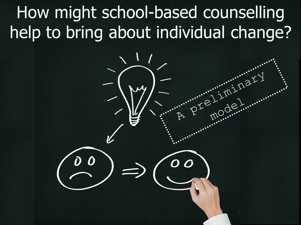 How might school-based counselling help to bring about individual change