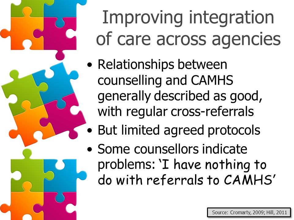 Improving integration of care across agencies