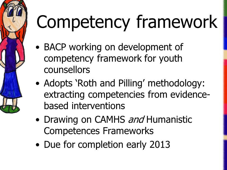 Competency framework BACP working on development of competency framework for youth counsellors.