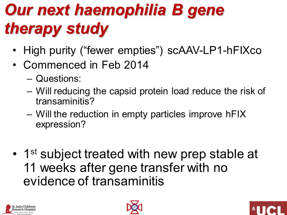 Our next haemophilia B gene therapy study