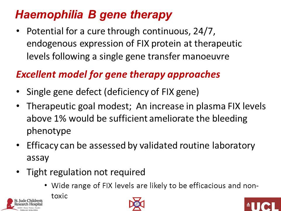 Haemophilia B gene therapy
