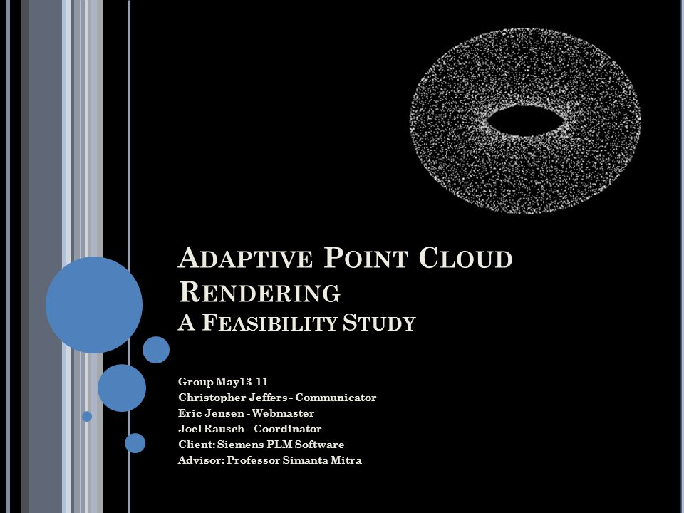 Adaptive Point Cloud Rendering A Feasibility Study