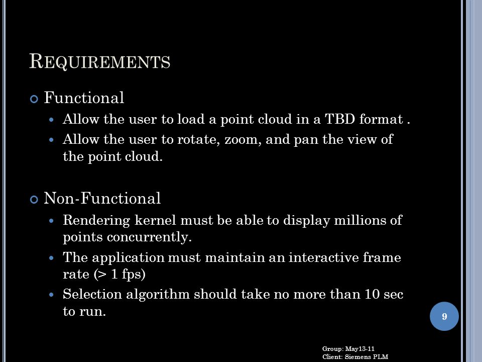 Requirements Functional Non-Functional