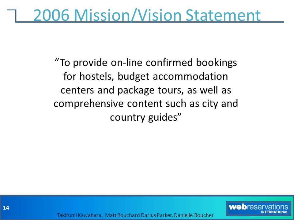 2006 Mission/Vision Statement