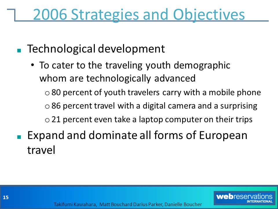 2006 Strategies and Objectives