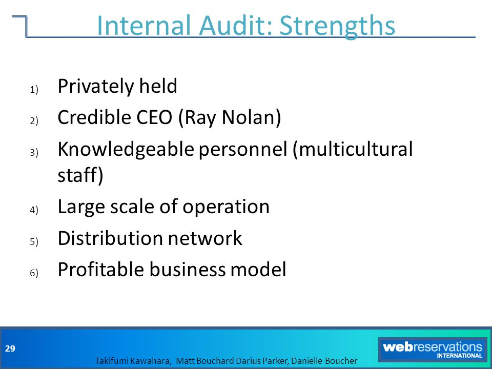 Internal Audit: Strengths