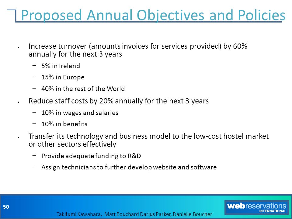 Proposed Annual Objectives and Policies