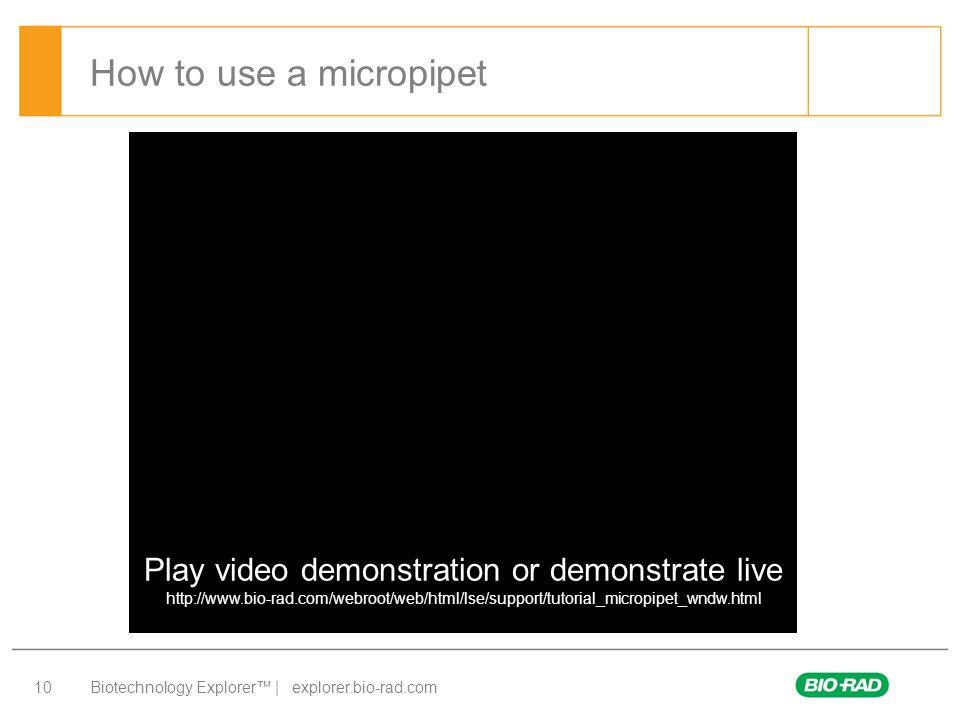 Play video demonstration or demonstrate live