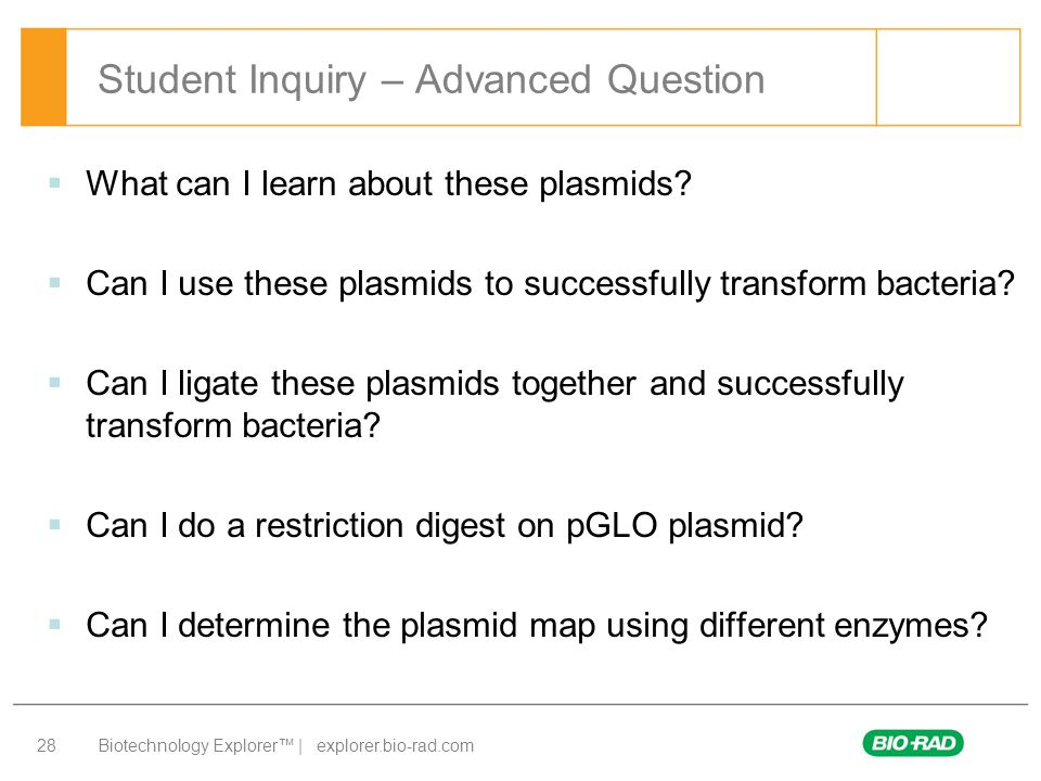 Student Inquiry – Advanced Question