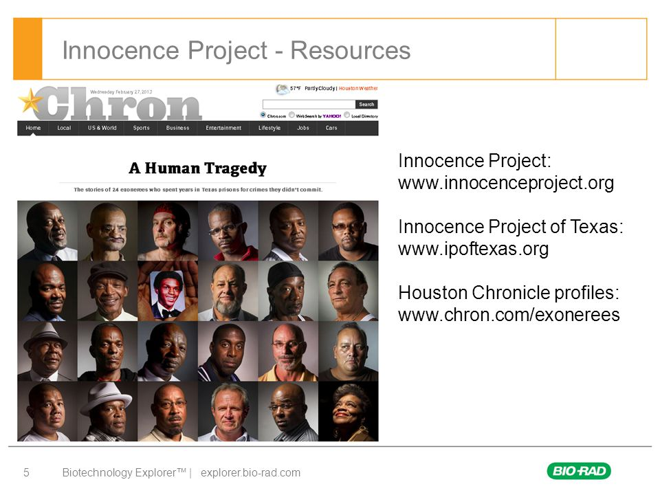 Innocence Project - Resources