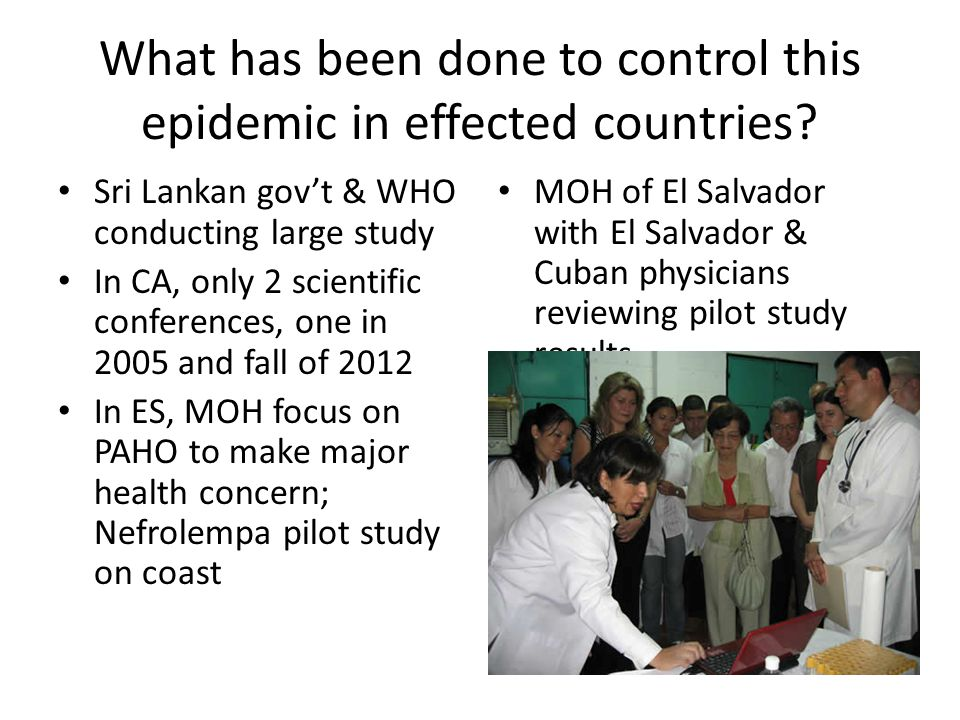 What has been done to control this epidemic in effected countries