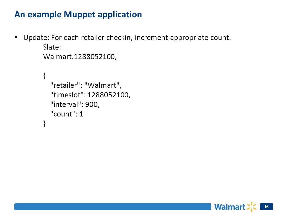 An example Muppet application