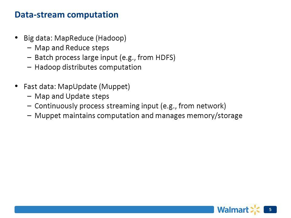 Data-stream computation