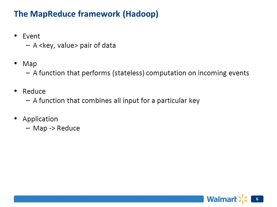 The MapReduce framework (Hadoop)
