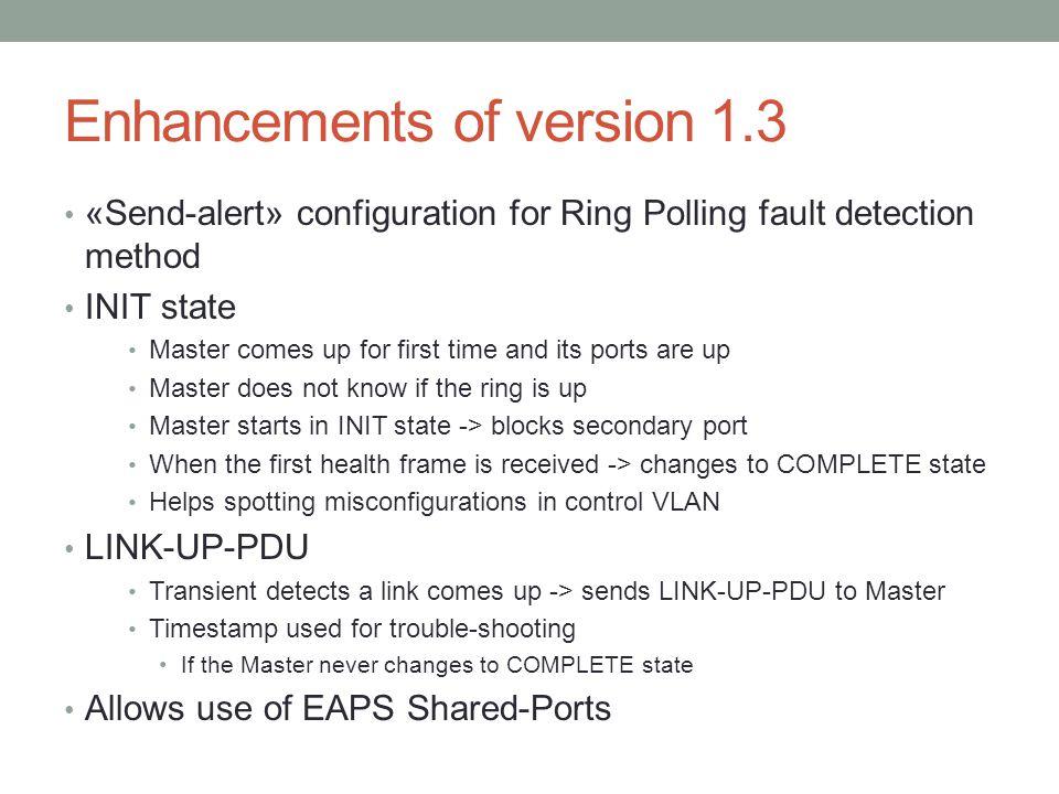 Enhancements of version 1.3