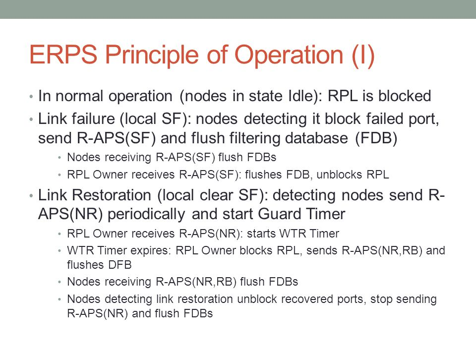 ERPS Principle of Operation (I)