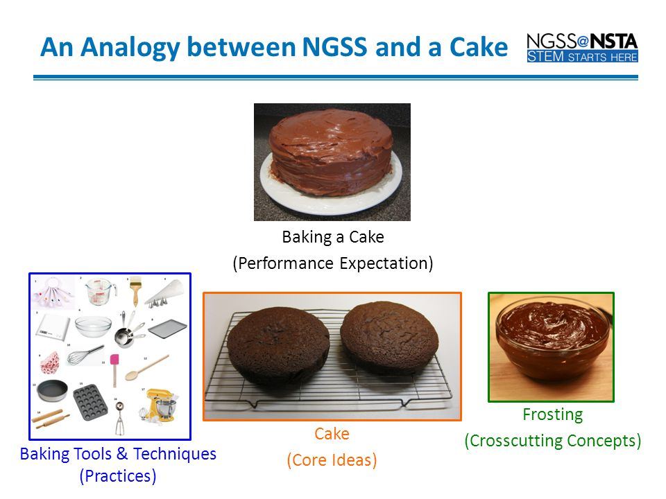 An Analogy between NGSS and a Cake