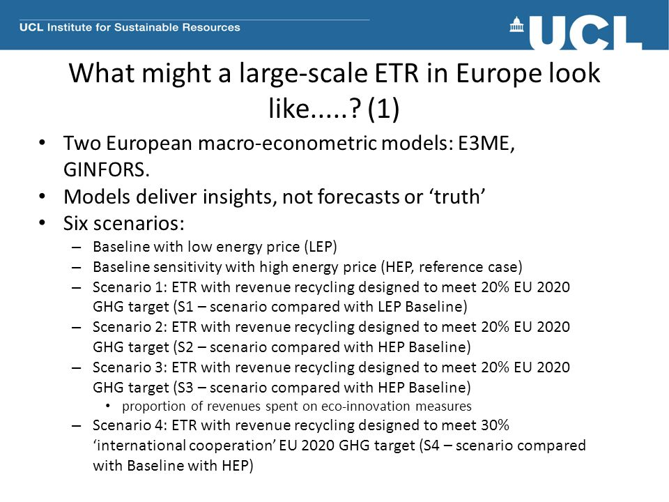 What might a large-scale ETR in Europe look like..... (1)