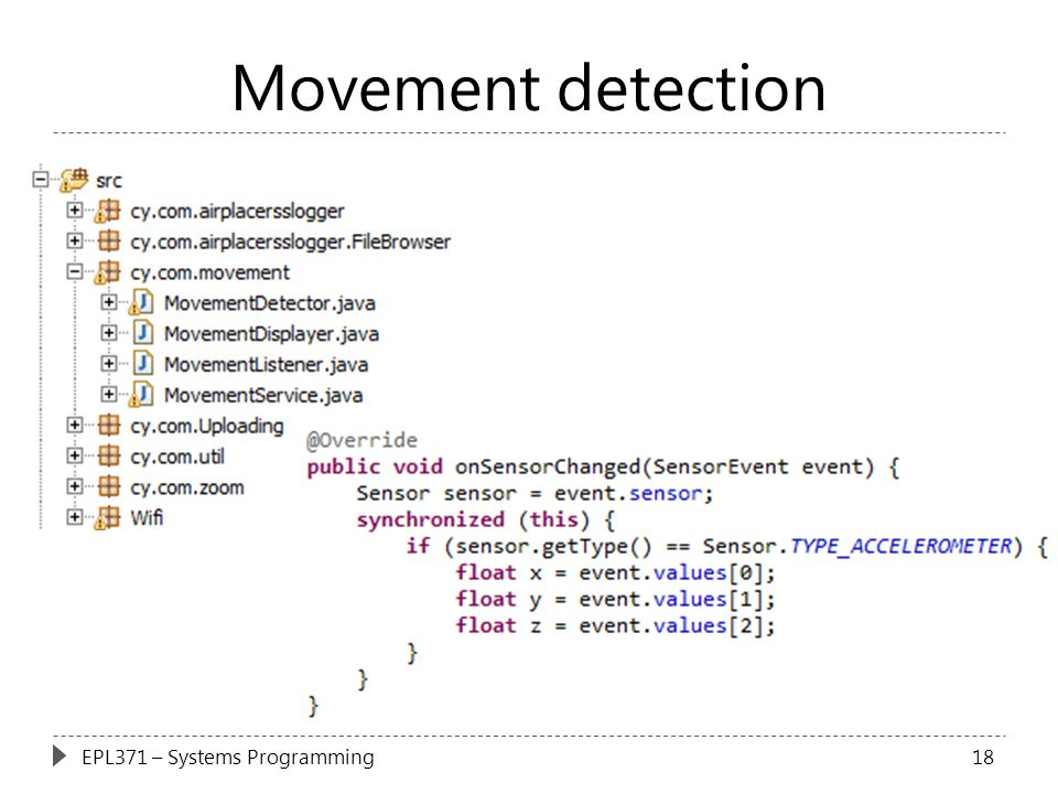 Movement detection EPL371 – Systems Programming