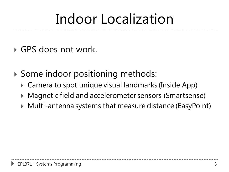 Indoor Localization GPS does not work.