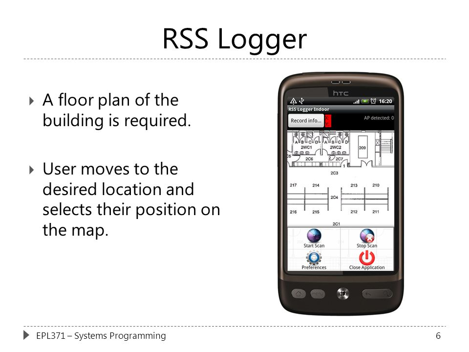 RSS Logger A floor plan of the building is required.