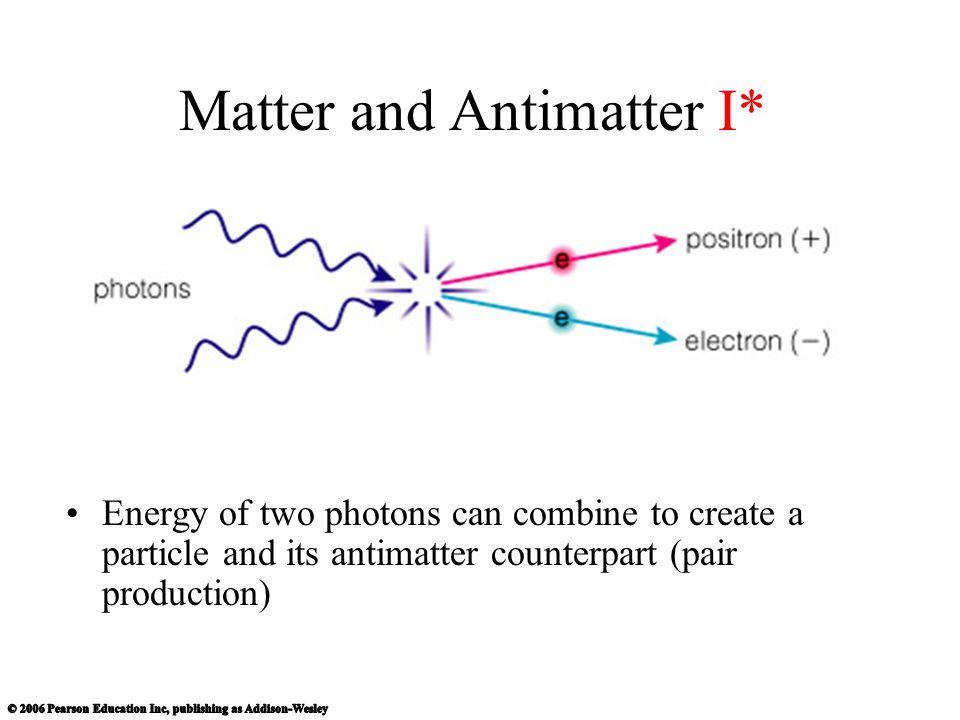 Matter and Antimatter I*