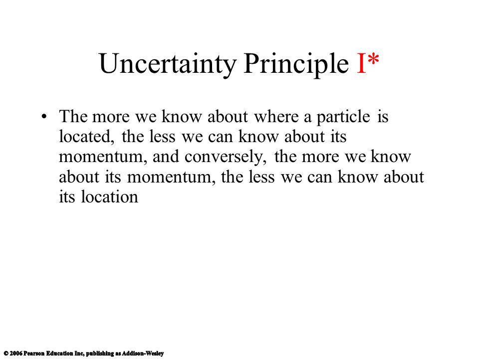 Uncertainty Principle I*