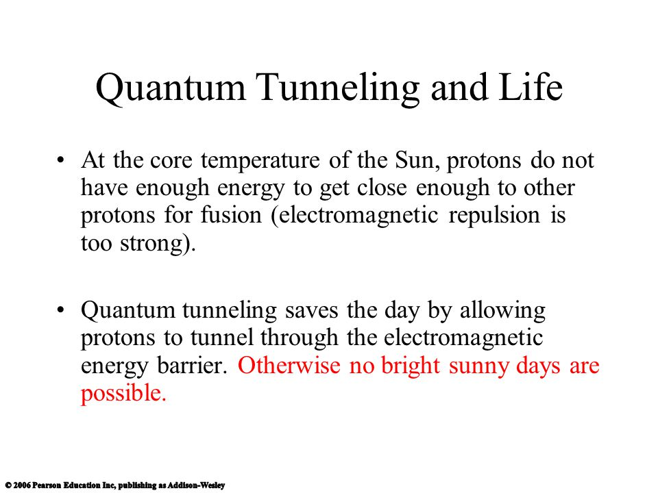 Quantum Tunneling and Life