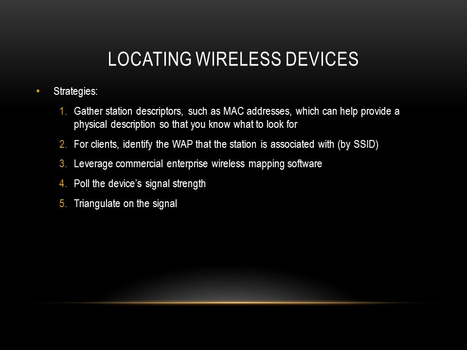 Locating wireless devices
