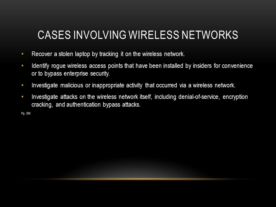 Cases involving wireless networks
