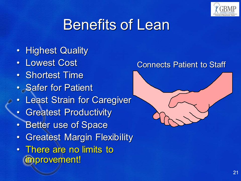Benefits of Lean Highest Quality Lowest Cost Shortest Time