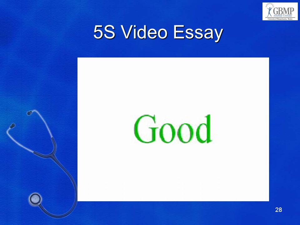 5S Video Essay