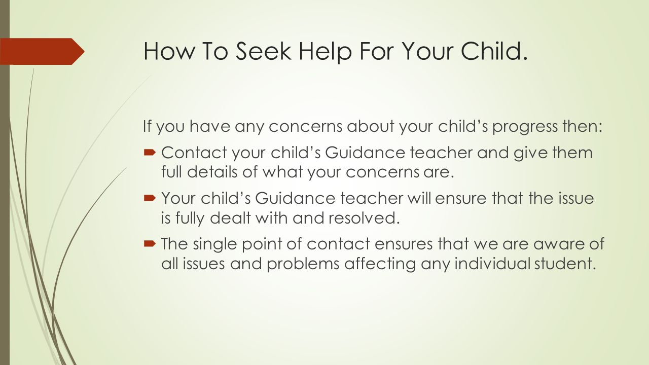 How To Seek Help For Your Child.