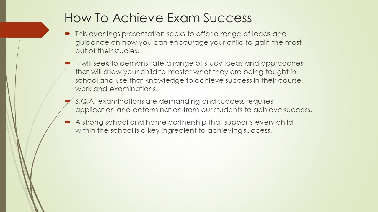 How To Achieve Exam Success