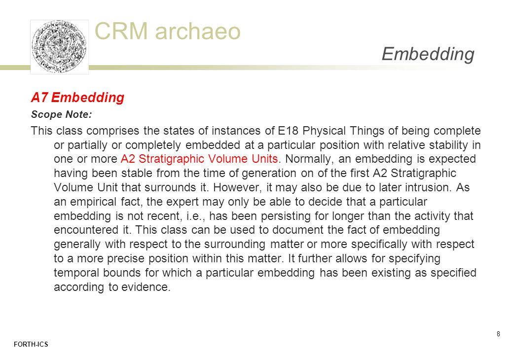 Embedding A7 Embedding. Scope Note: