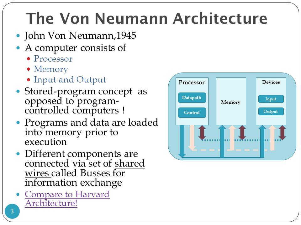 Instructions language of the computer ppt download for Architecture von neumann