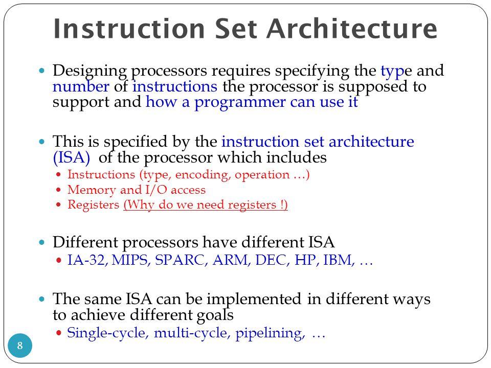 Differences between AMD vs Intel vs RISC vs MIPS instructions