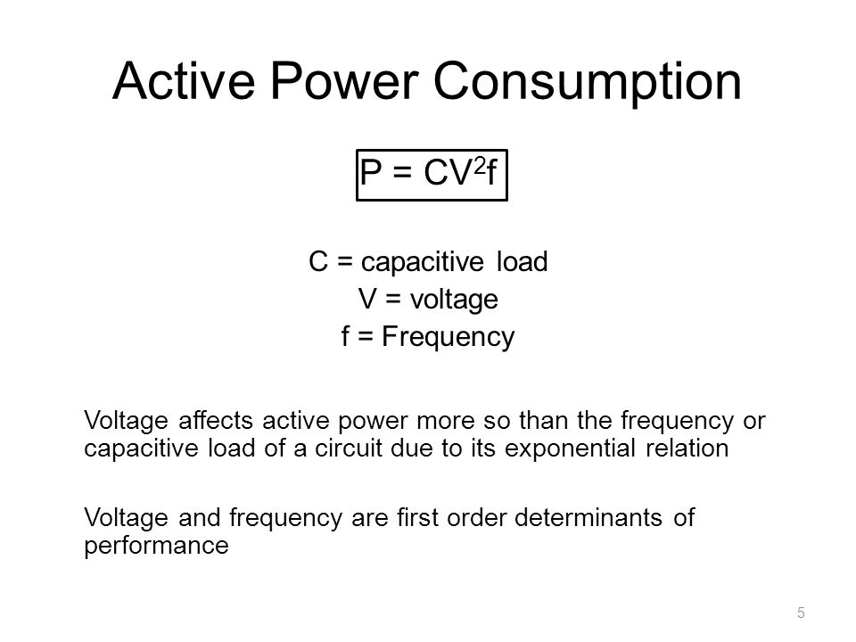 Active Power Consumption