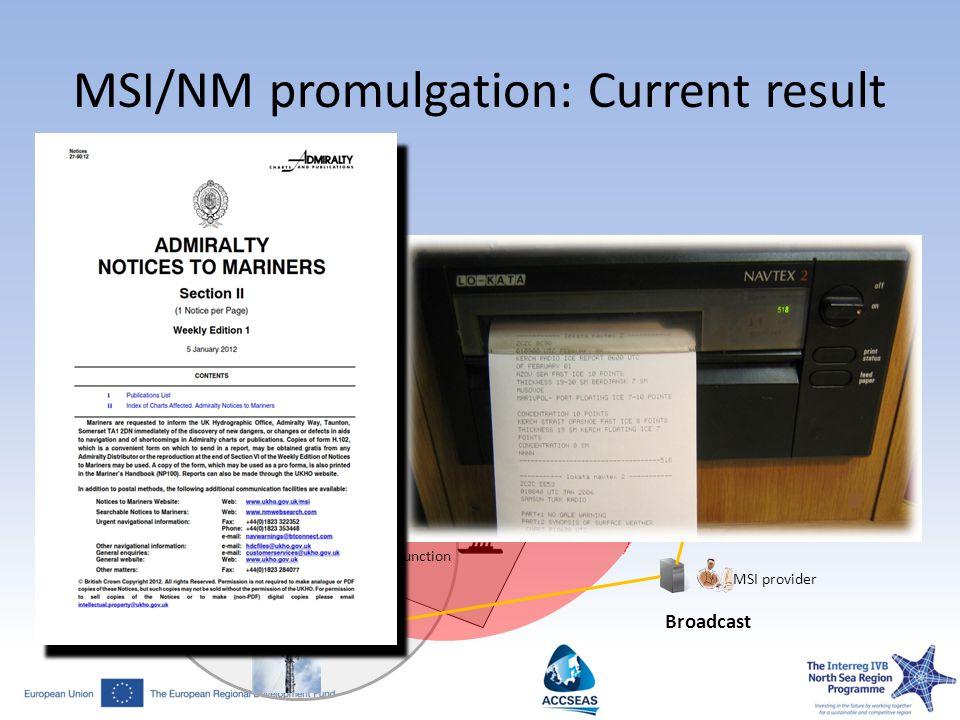 MSI/NM promulgation: Current result