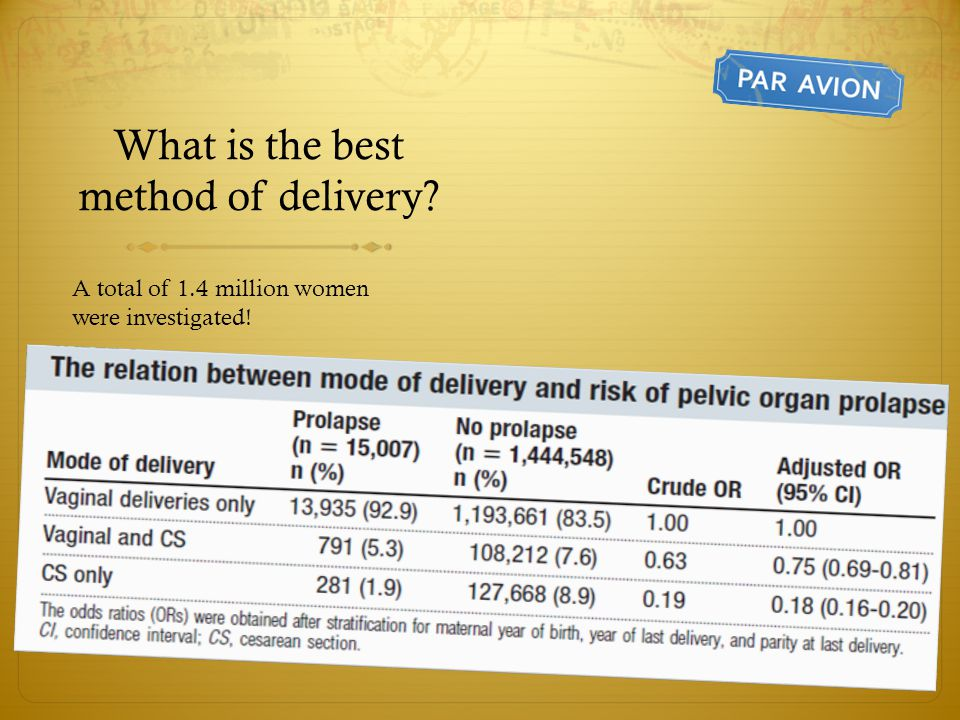 What is the best method of delivery