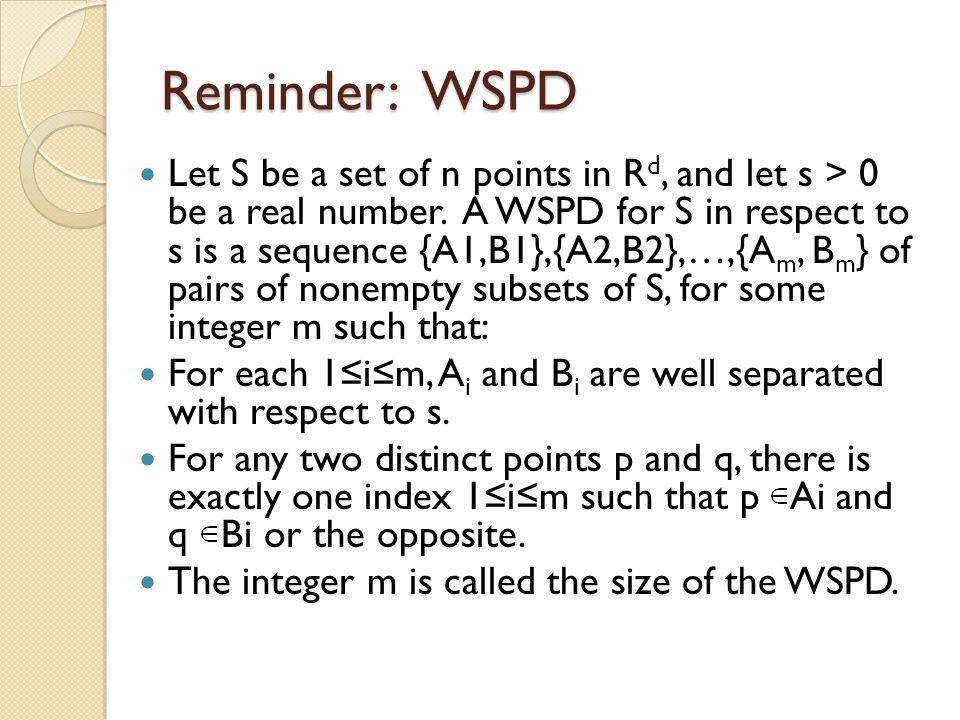 Reminder: WSPD